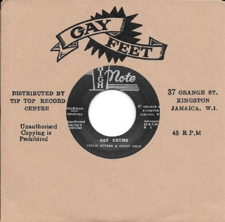 Leslie Butler & Count Ossie - Gay Drums /  Ken Boothe - Lady...  (High Note / Dub Store) JPN 7""
